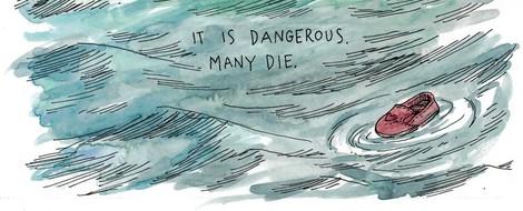 Lost at Sea - Ein Bericht über eine Rettungsmission im Mittelmeer - in Comicform