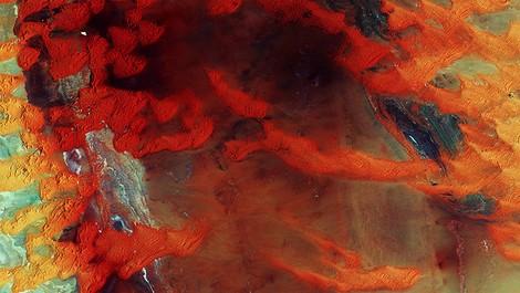 Die Erde als Kunstprojekt aus dem All