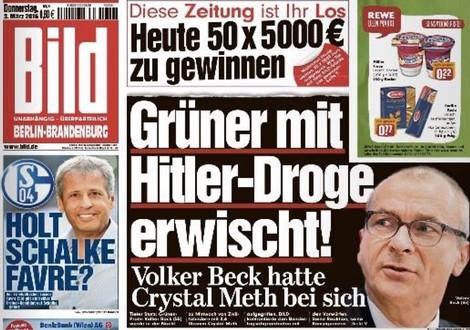 """Warum man den Bild-Titel mit der """"Hitler-Droge"""" auch geil finden kann"""