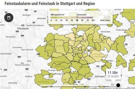 Konstruktiver Umweltjournalismus: Das Feinstaub-Radar der Stuttgarter Zeitung