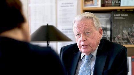 Österreichs Altkanzler Franz Vranitzky im Gespräch