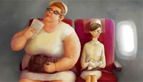 """What it's like to be that fat person sitting next to you on the plane."""