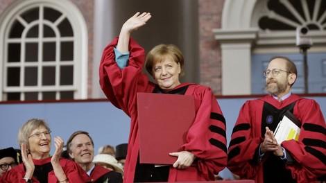 Angela Merkel und (irgendwie auch) AC/DC in Harvard