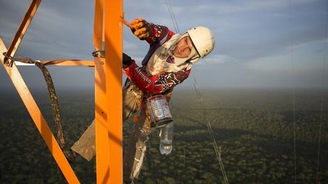 Den Amazonaswald erforschen, von einem Turm mit 325 Metern Höhe