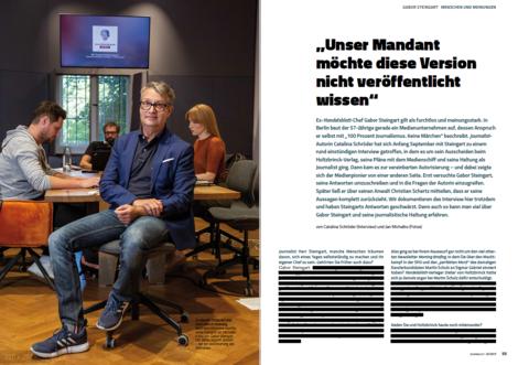 """Warum der """"Journalist"""" 32 Fragen an Gabor Steingart veröffentlicht – und keine einzige Antwort"""