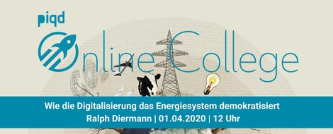 Wie die Digitalisierung das Energiesystem demokratisiert (Ralph Diermann | 01.04.2020 | 12 Uhr)