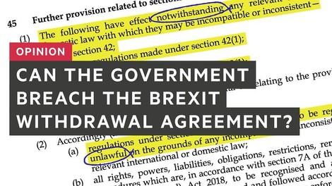 Was macht das neue britische Gesetz mit dem EU-Austrittsabkommen?