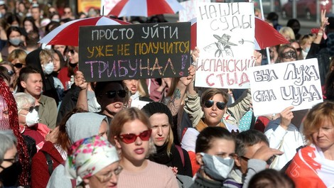 Kein großer Hashtag für die women of belarus