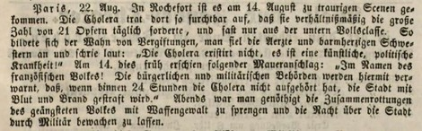 Heute Corona-Leugner, damals Cholera-Leugner