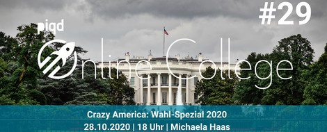 Crazy America: Wahl-Spezial 2020 | Michaela Haas | 28.10. | 18 Uhr