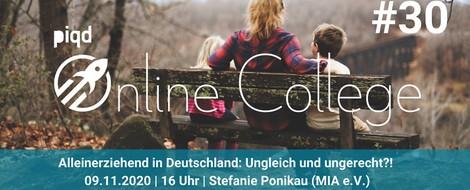Alleinerziehend in Deutschland | Stefanie Ponikau | 09.11.2020